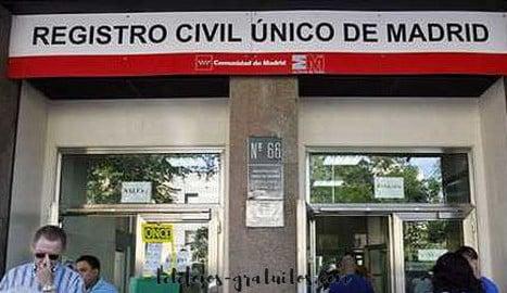 Registro civil Madrid telefono