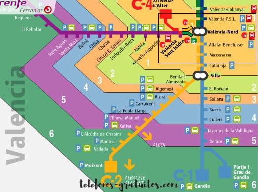 Cercanías Valencia telefono